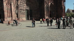 Strasbourg Cathedrale Stock Footage