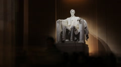 Lincoln Memorial Time Lapse Stock Footage