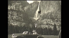 Vintage 16mm film, 1941, bridalveil falls Stock Footage