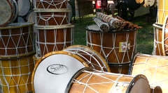Drums, manufactured by old technology. Stock Footage