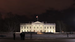 White House by Night Stock Footage