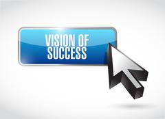 vision of success button sign concept - stock illustration