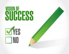 Stock Illustration of vision of success sign concept illustration