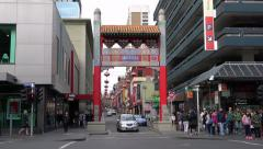 Melbourne Chinatown Stock Footage