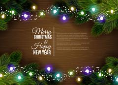 Christmas lights borger decoration season greetings Stock Illustration
