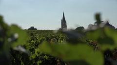 Bell tower of Saint Emilion Stock Footage