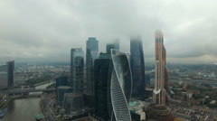 Moscow City skyscrapers Stock Footage