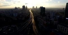 Airview of Skyscrapers in Istanbul Turkey Stock Footage
