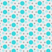 Teal ,White and Gray Polka Dot Tile Pattern Repeat Background - stock illustration