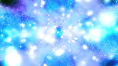Blue and white particle vortex Stock Footage
