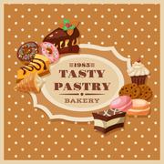 Vintage Pastry Frame - stock illustration