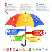 Umbrella Infographics Set - stock illustration