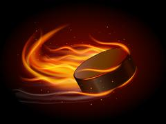 Puck In Fire Stock Illustration