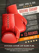 Gloves Boxing Poster Piirros