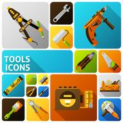Diy Tools Icons - stock illustration