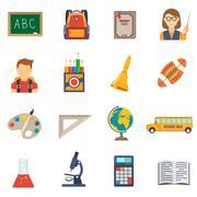 Education Flat Set - stock illustration