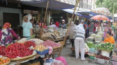 Pasar Konoman vegetable market,Ceribon,Java,Indonesia Stock Footage