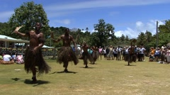 South Pacific Natives Dancing on a tropical island - stock footage