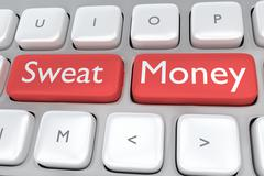Sweat Money concept Stock Illustration