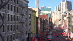 Establishing high angle shot of the Chinatown district of New York City. Stock Footage