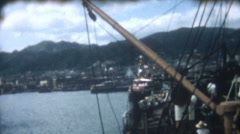 Vintage Film 1956  Japan - Cargo Being Loaded  Ship Harbor Port Trade Commerce Stock Footage