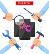Concept Mobile Service Repair Gadgets Stock Illustration