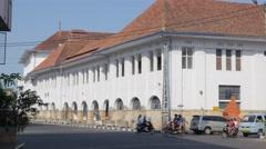 Dutch colonial buildings,Ceribon,Java,Indonesia Stock Footage