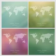 Stock Illustration of blurred vector backgrounds set