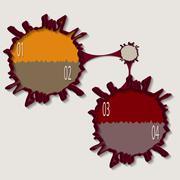 Blot infographics - stock illustration