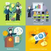 Business Concept Investment Advice Meetings Stock Illustration