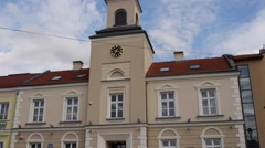 Hall town in Lomza Stock Footage