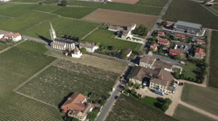 Aerial view of the Pomerol village Stock Footage