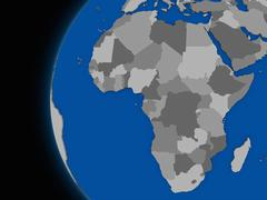 Stock Illustration of African continent on political Earth