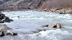 Cheremosh river in Verkhovyna, Ukraine Stock Footage