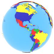 Stock Illustration of Western hemisphere on Earth