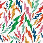 Retro vintage thunder bolt lighting ray 80 pattern Piirros