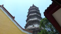 Yingjiang Temple located in Anqing, China Stock Footage
