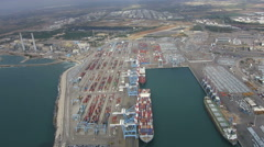 Aerial Ashdod port Stock Footage