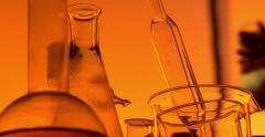 A stylized chemical laboratory - stock footage