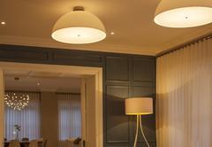 Illuminated domed lights - stock photo