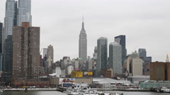 Manhattan Skyline with Empire State Building Stock Footage