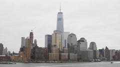 New York Skyline - Freedom tower Stock Footage