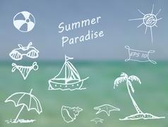 Summer Paradise Stock Illustration