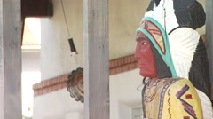Stock Video Footage of Close-up of tribal statue