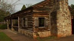 View of old wooden cabin Stock Footage
