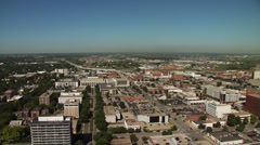 Stock Video Footage of View of Lincoln cityscape, Nebraska