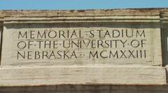 Stock Video Footage of Husker Legacy Statue at University of Nebraska