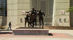 Husker Legacy Statue at University of Nebraska Stock Footage