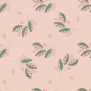 Seamless Botanical Pattern Stock Illustration