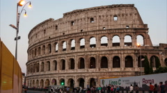 Colosseum at night in Rome, Italy - stock footage